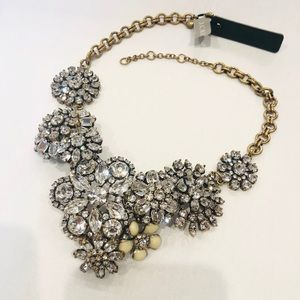 J Crew Necklace Bronze Crystal Statement Necklace